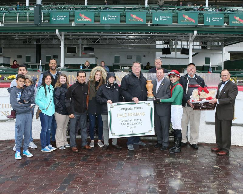 20161112 Dale Romans - All-Time Churchill Downs Leading Trainer (Coady) 11-12-17 - R06 - CD - Presentation