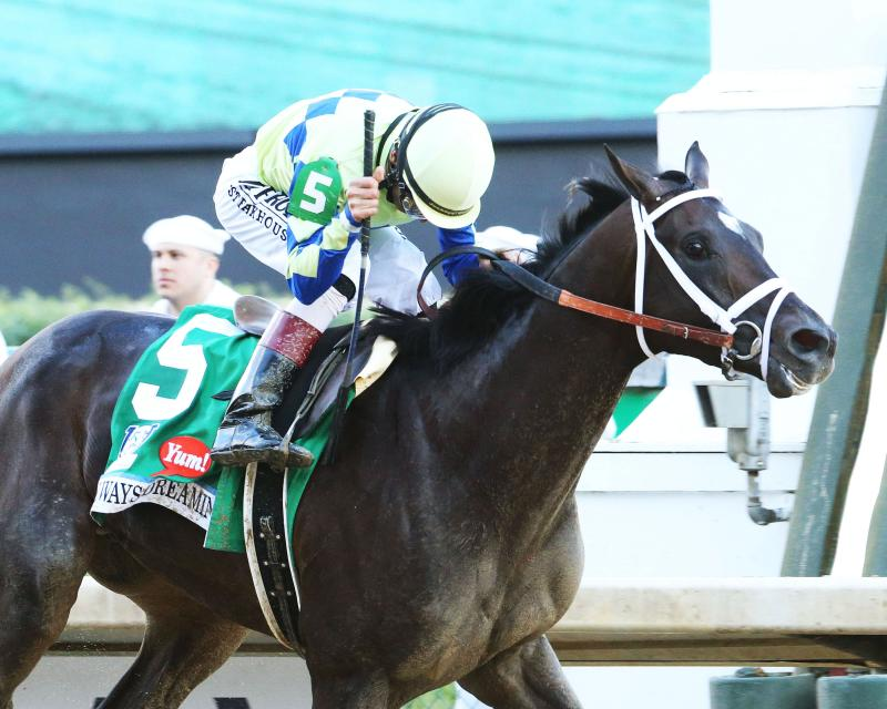 20170506 ALWAYS DREAMING KyDerby (Coady)Finish Tight