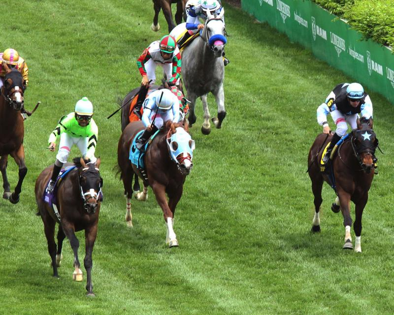 WILL CALL - The Twin Spires Turf Sprint - G3 - 24th Running - 05-04-18 - R07 - CD - Aerial Head On 01
