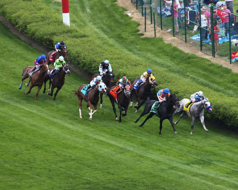 WILL CALL - The Twin Spires Turf Sprint - G3 - 24th Running - 05-04-18 - R07 - CD - Aerial Turn 01