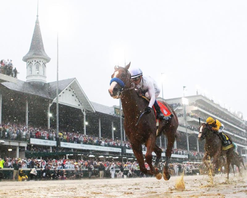 20180505 JUSTIFY - The Kentucky Derby G1 - Under Rail 01 (Coady) (2)