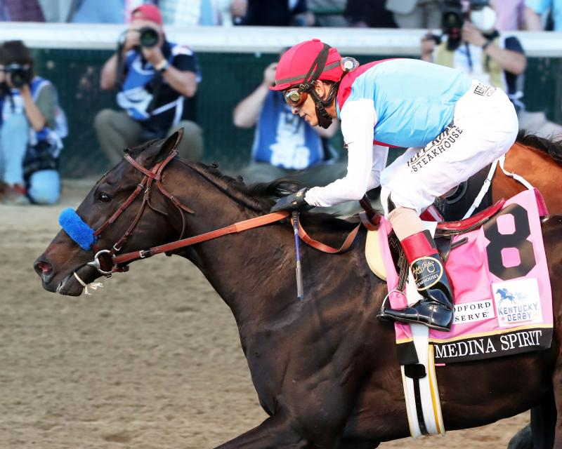 MEDINA SPIRIT - The Kentucky Derby G1 - 147th Running - 05-01-21 - R12 - CD - Inside Finish 01