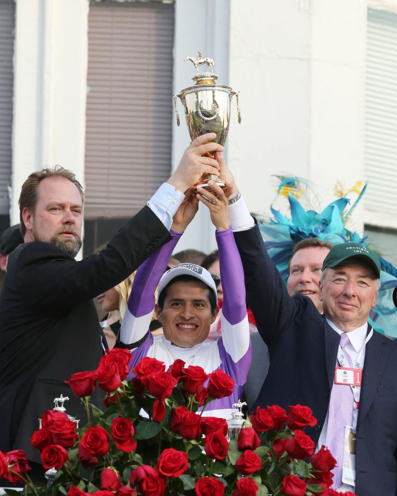 20160507 NYQUIST KyDerby (Coady) Winners Circle2