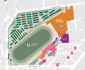Maps Directions Churchill Downs Racetrack Home of the